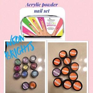 Rainbow candy colored acrylic powder set